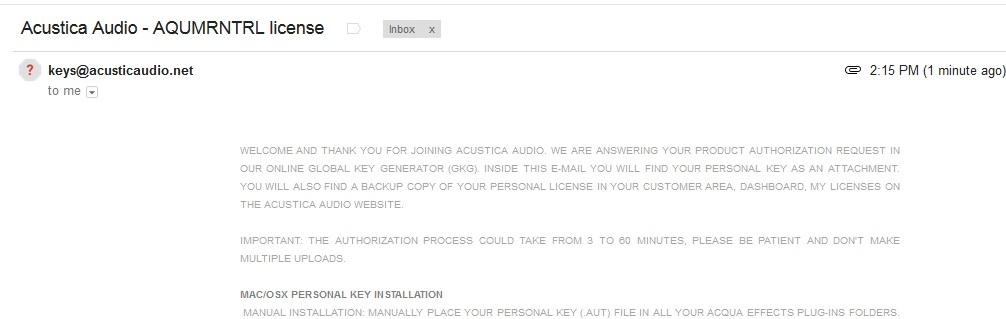 acustica license files ser aut